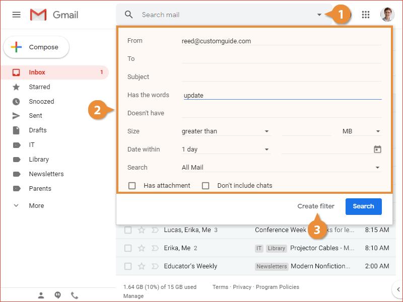 Filter Emails