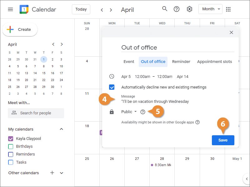 Add Out-of-Office Dates
