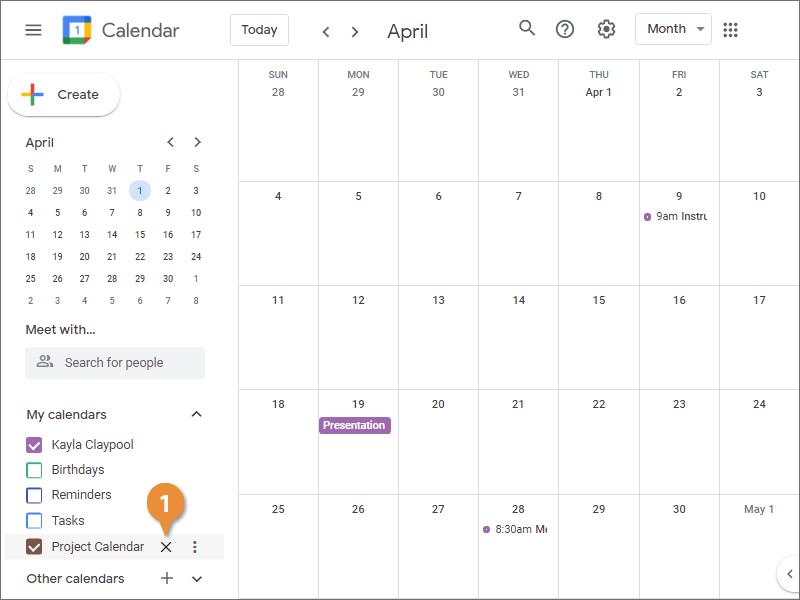 Remove a Calendar