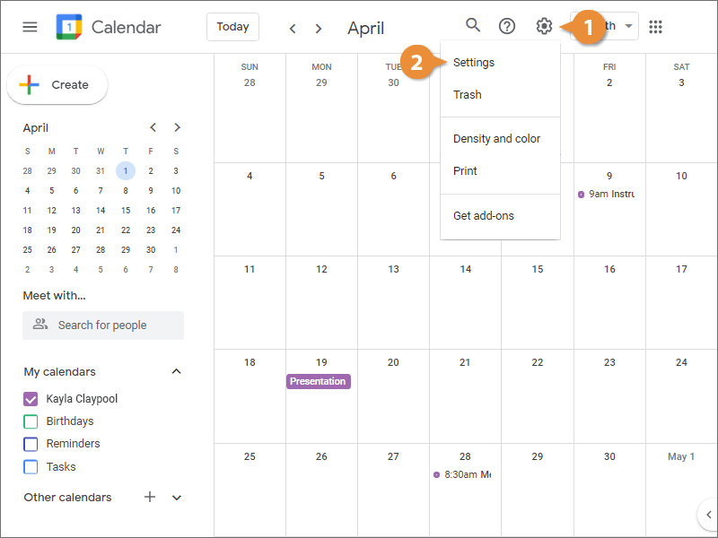 Import Events to Your Calendar