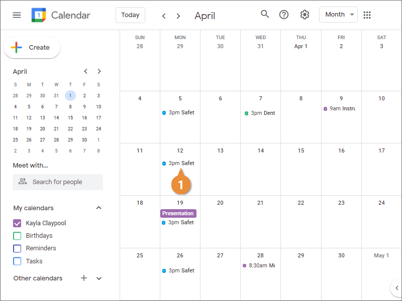 Enter an End Date for a Repeating Event