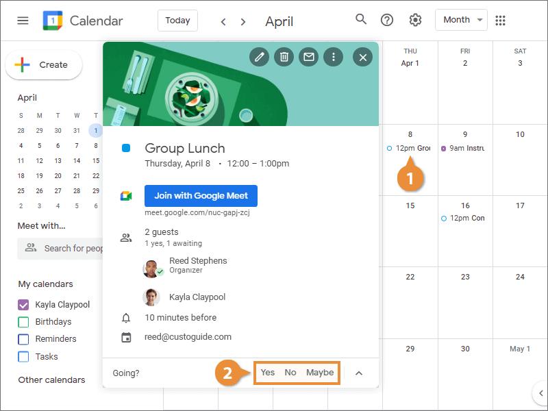 Respond Through Calendar