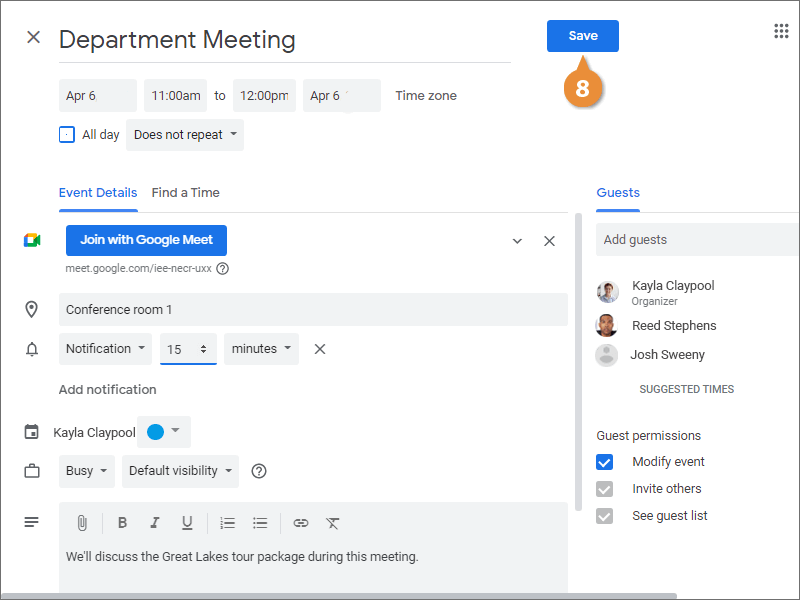 Create a New Meeting