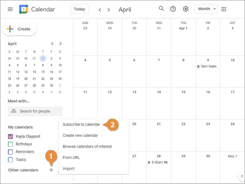 Add a Shared Calendar