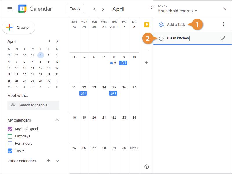 Add Tasks to a Task List