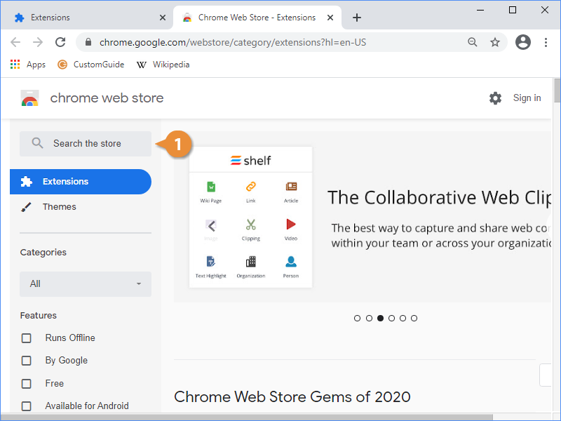 Browse Extensions