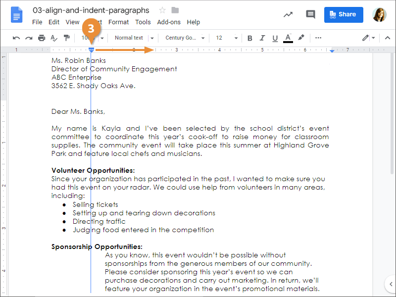 Align and Indent Paragraphs