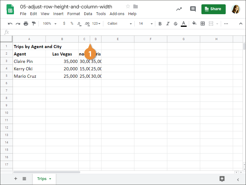 How to Adjust Row Height or Column Widht Automatically in Google Sheets.