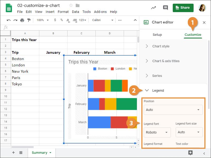 Customize a Chart