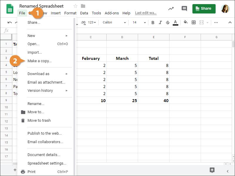 Copy a Spreadsheet