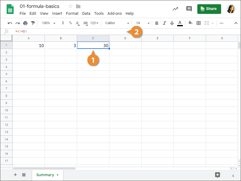 How to edit a formula in Google Sheets.