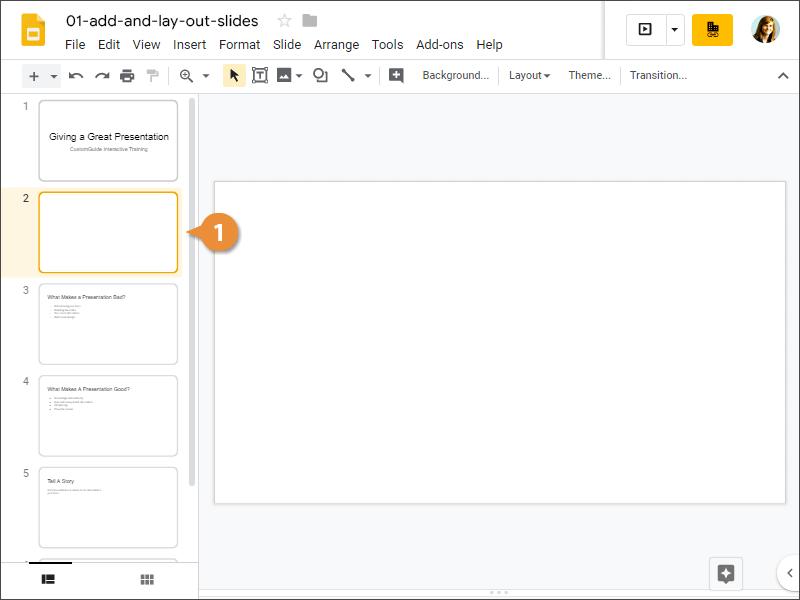 Delete a Slide