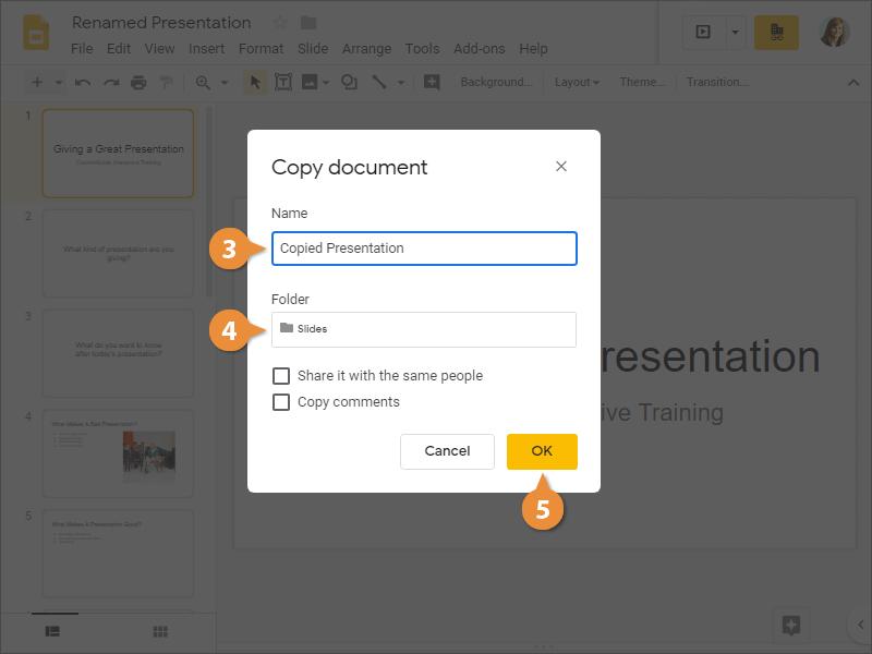 Copy a Presentation