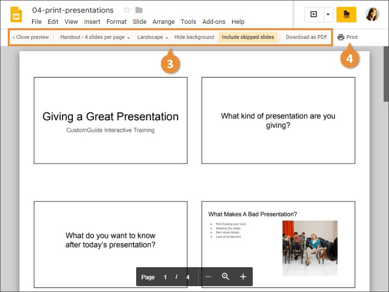 Print a Presentation