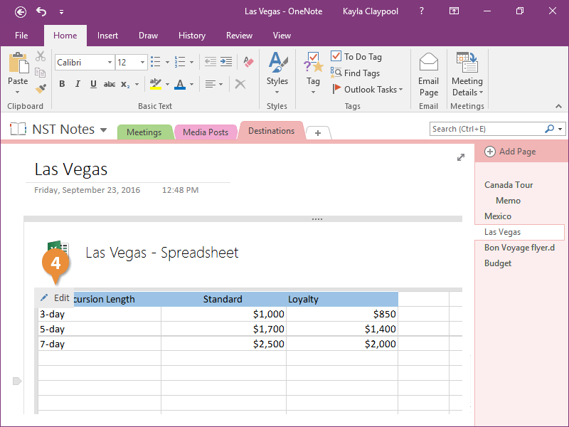 Convert a Table to a Spreadsheet