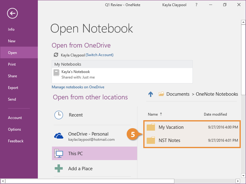 Open and Create a Notebook