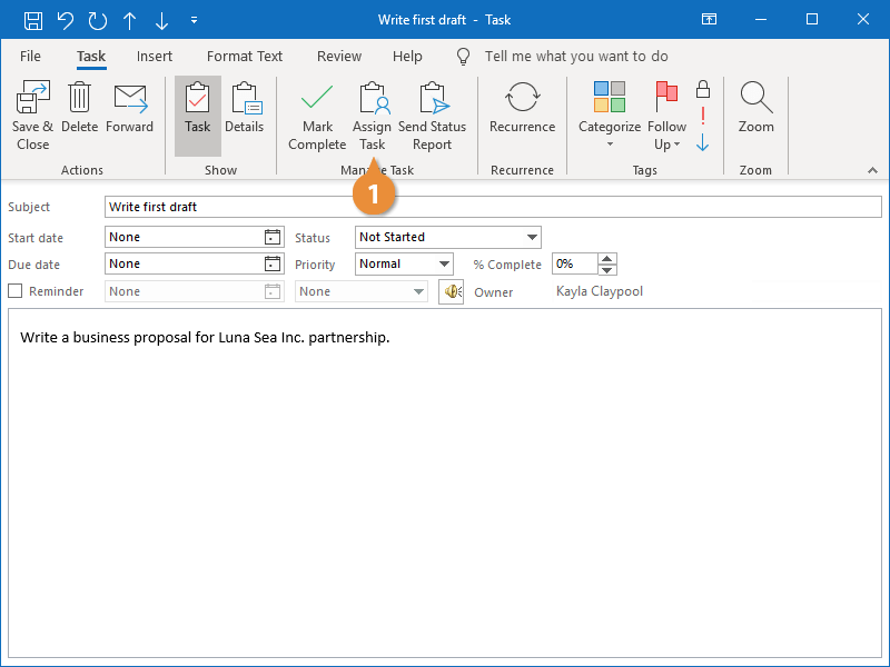 Assign Tasks