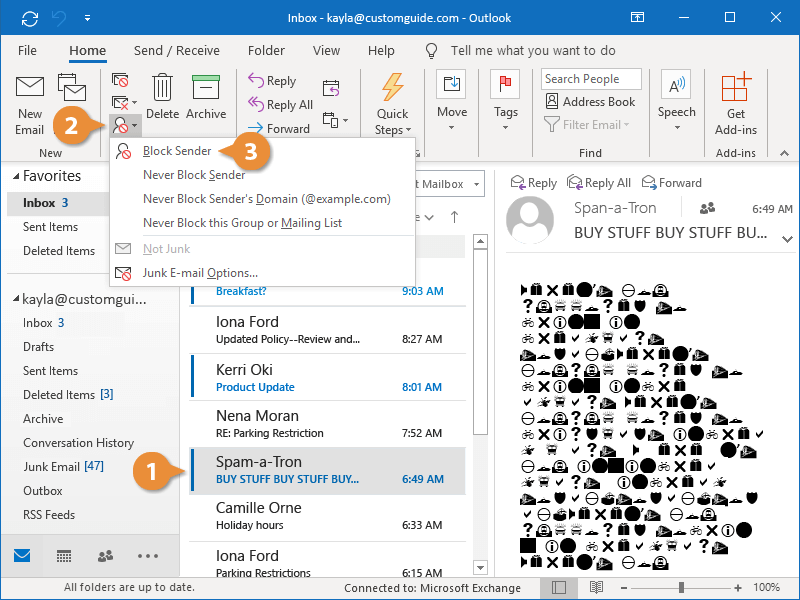 Deal with Junk Email