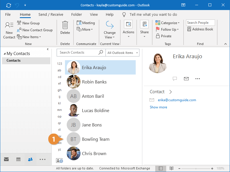 Modify Contact Groups