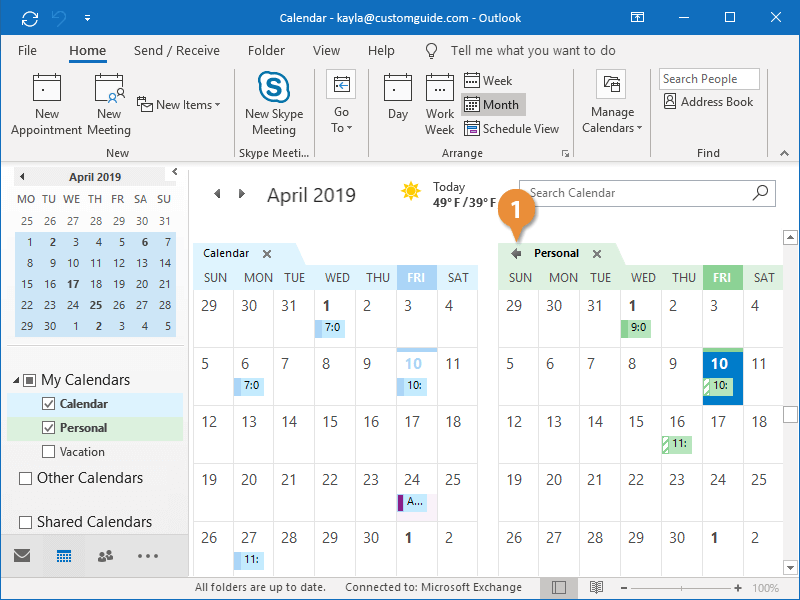 Work with Multiple Calendars