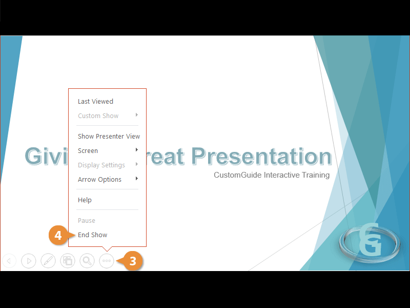 Present a Slide Show
