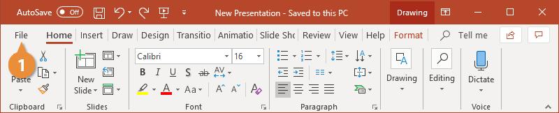 Save a Presentation