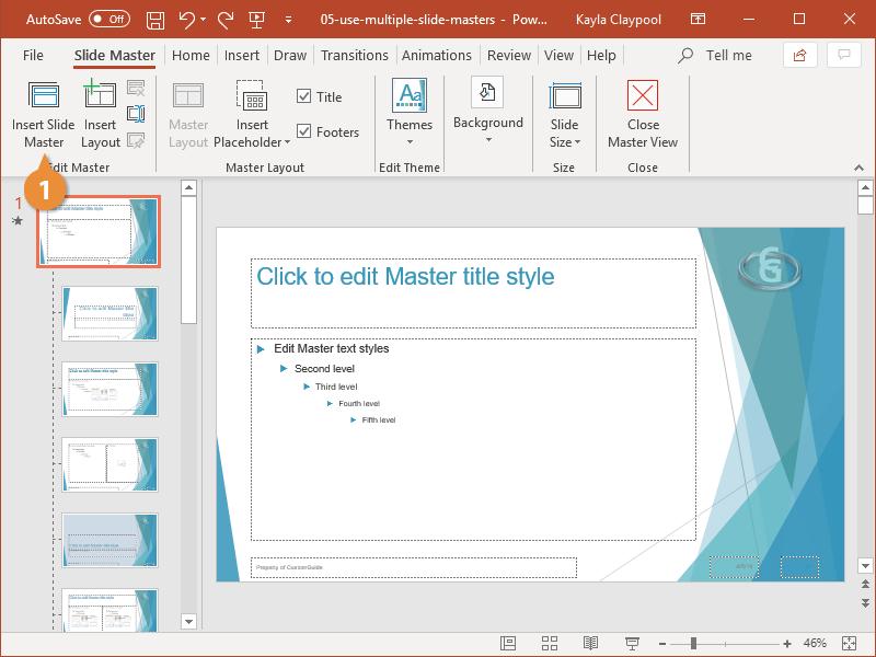 Use Multiple Slide Masters