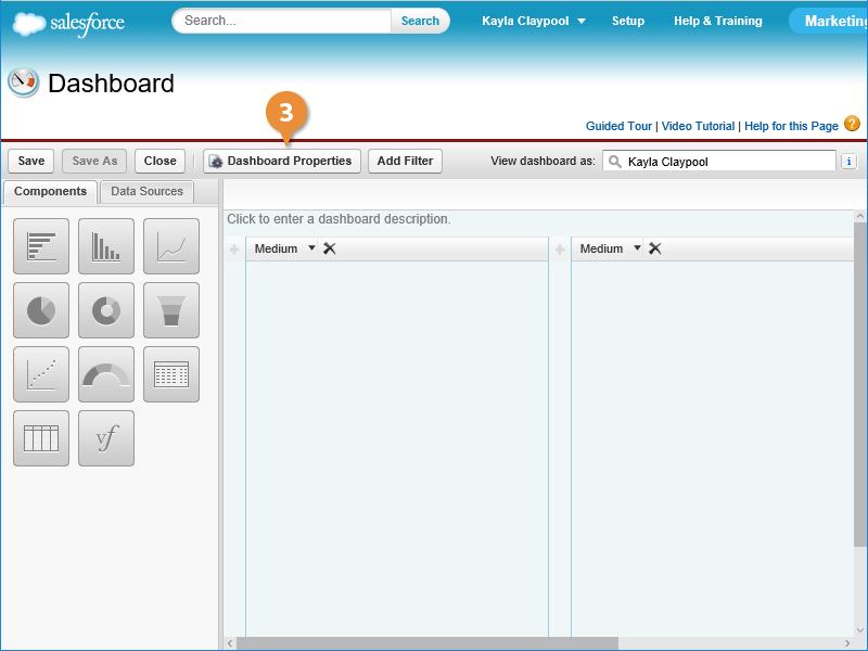 Create a New Dashboard