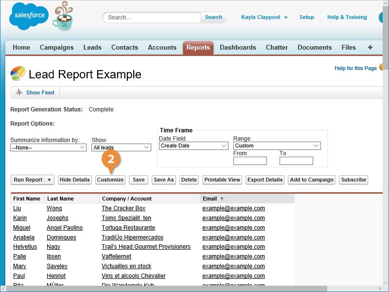 Edit a Report
