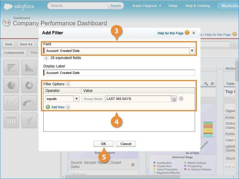 Filter a Dashboard
