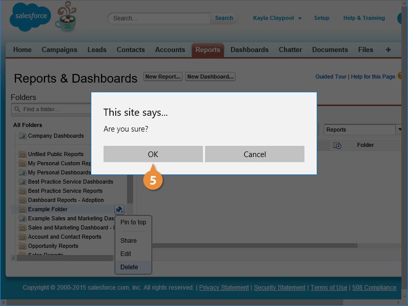 Delete a Folder