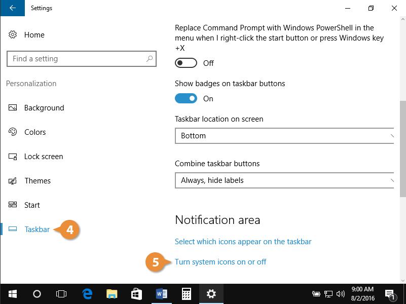 Customize the taskbar.