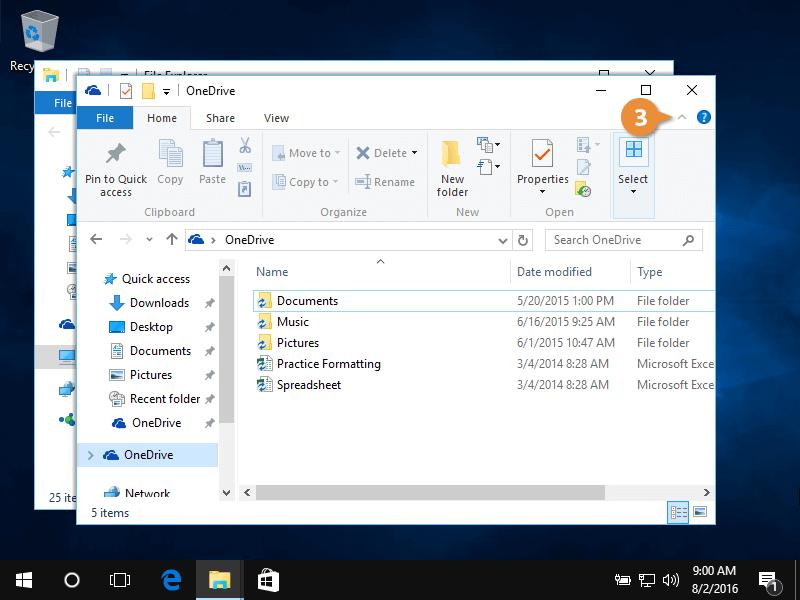 File explorer.