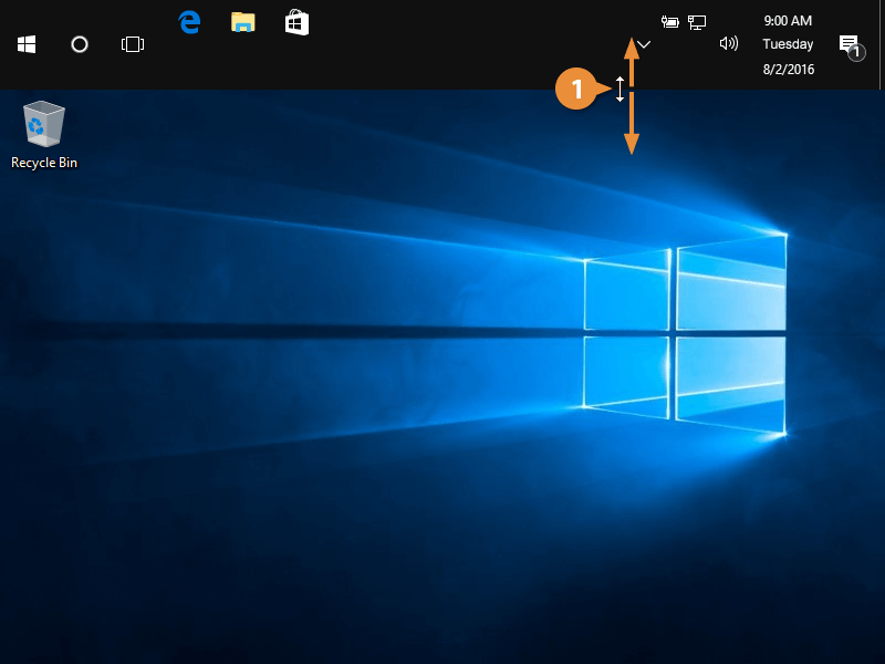 Move and resize the taskbar.