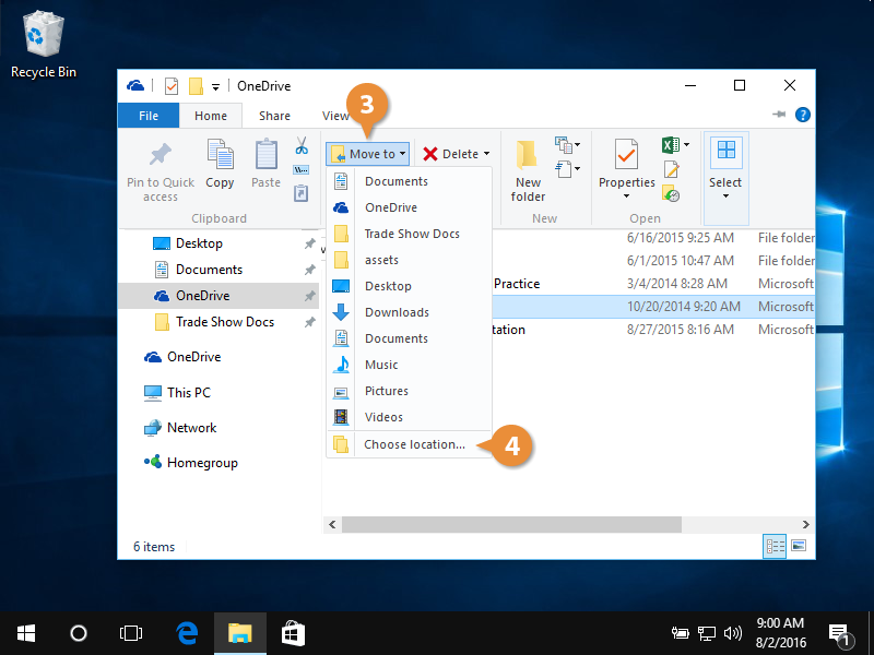 Organize folders and files.