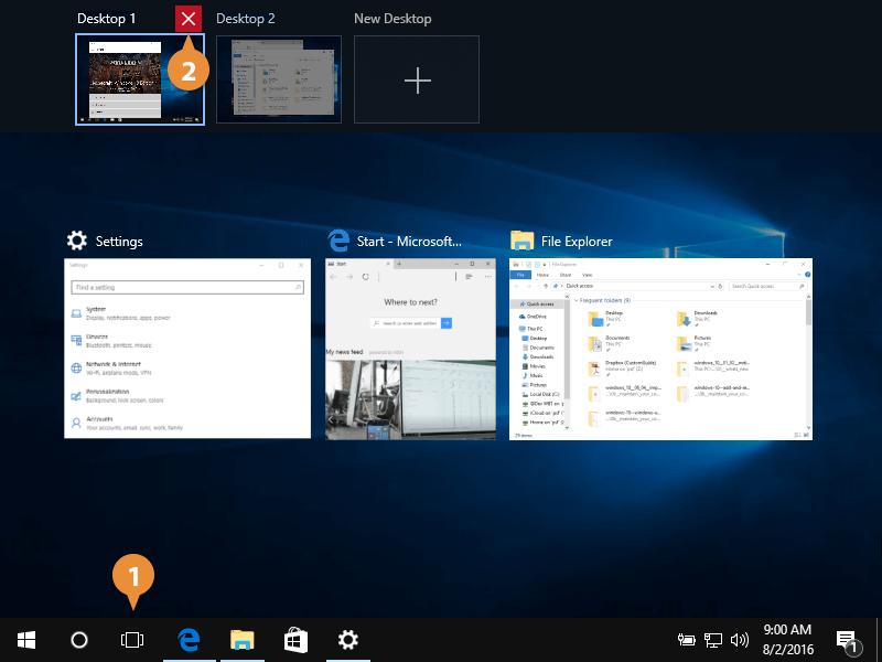 Use Multiple Desktops