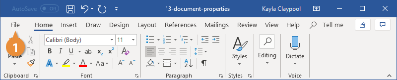 View and Edit Document Properties