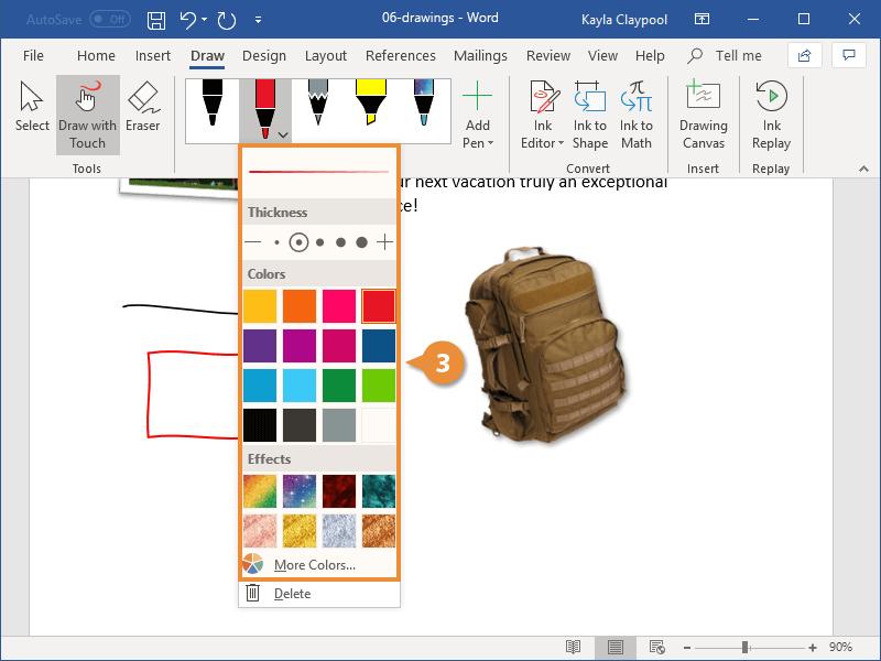 Change Pen Type
