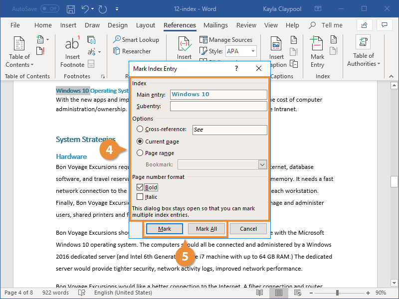 Insert an Index Entry