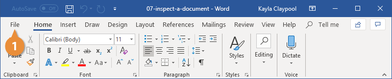 Inspect a Document Advanced