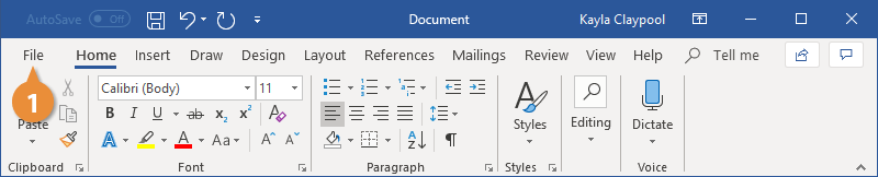 Open a Document
