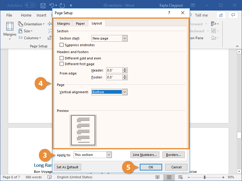 Customize a Section Layout