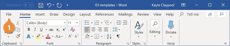 Create a Document Template