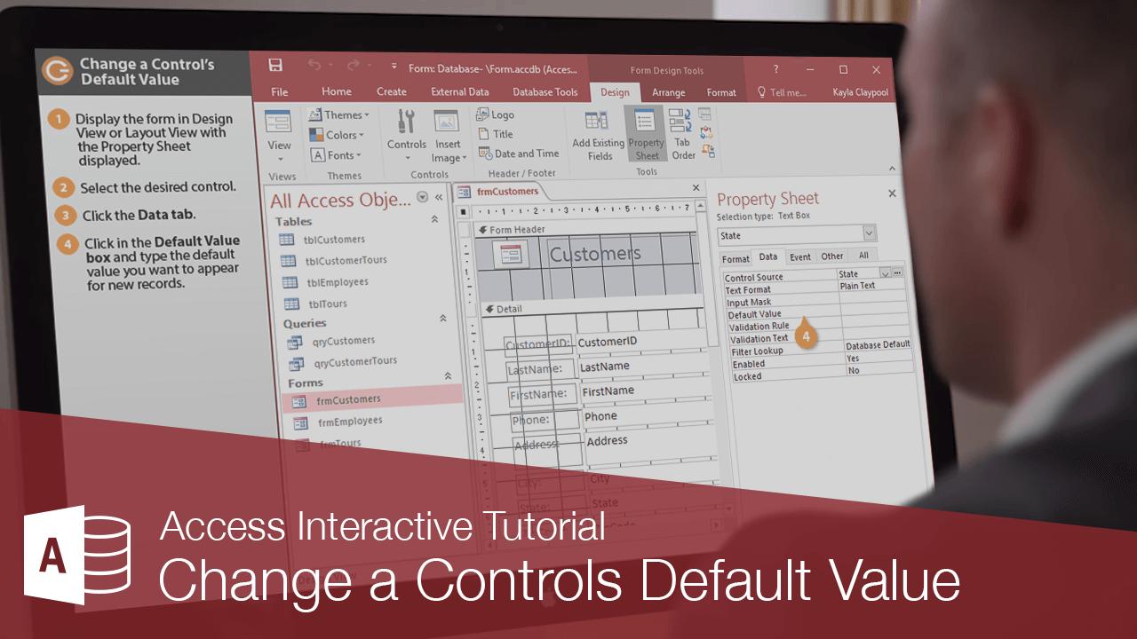 Change a Controls Default Value