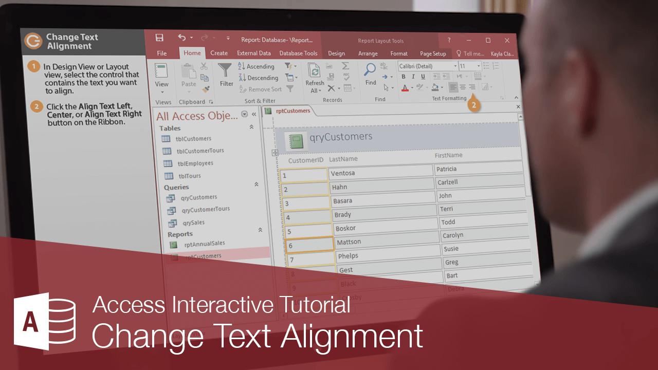 Change Text Alignment
