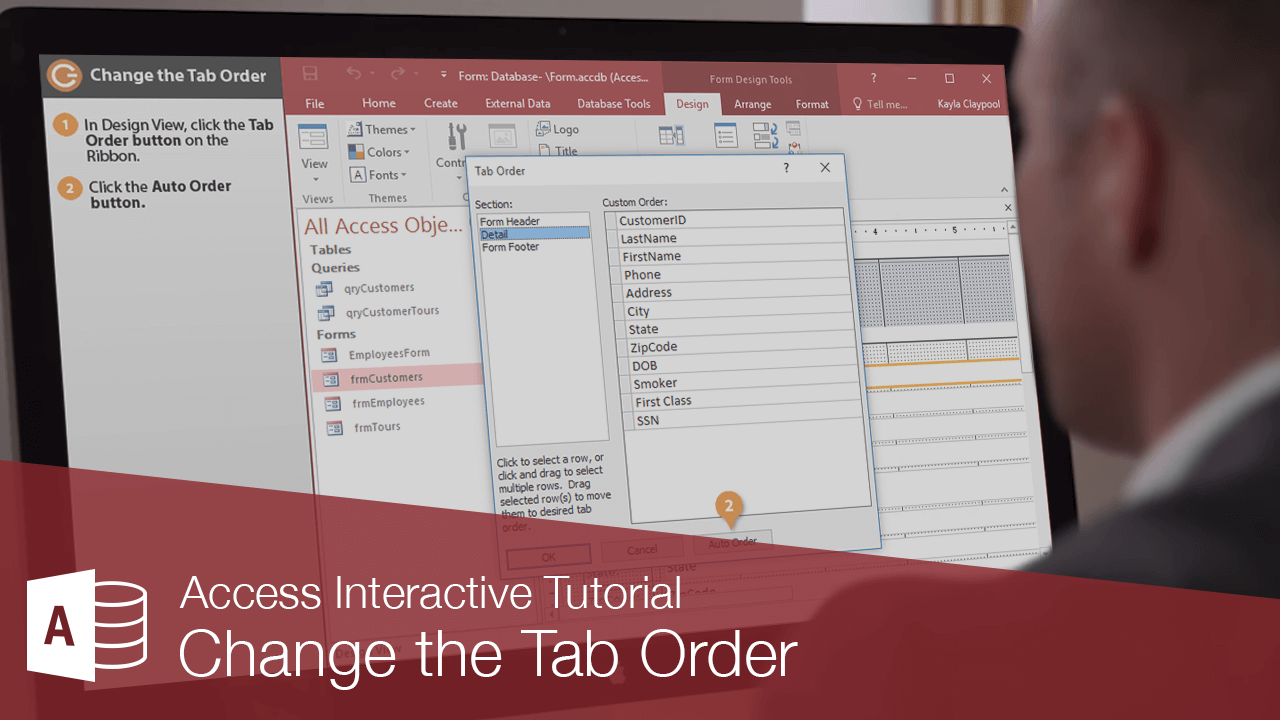 Change the Tab Order