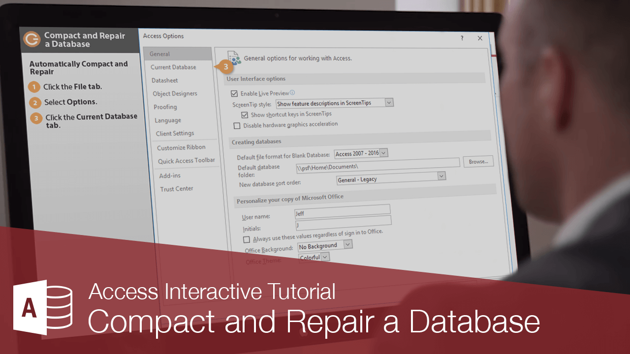 Compact and Repair a Database