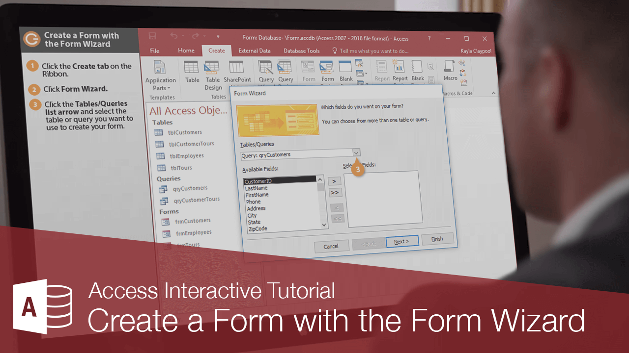 Create a Form with the Wizard