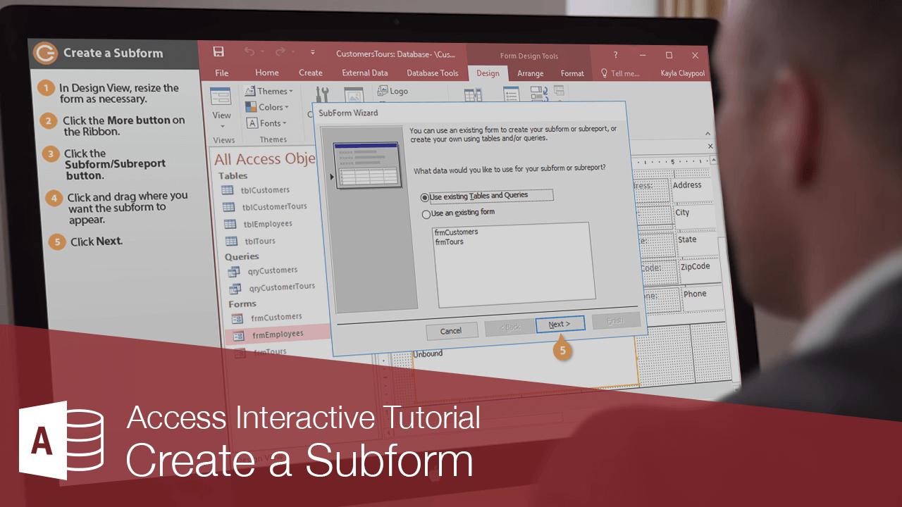 Create a Subform