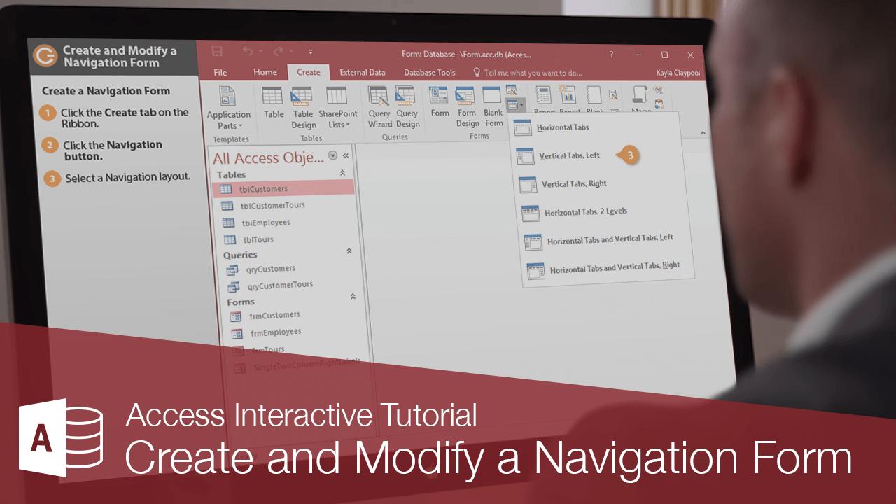 Create and Modify a Navigation Form